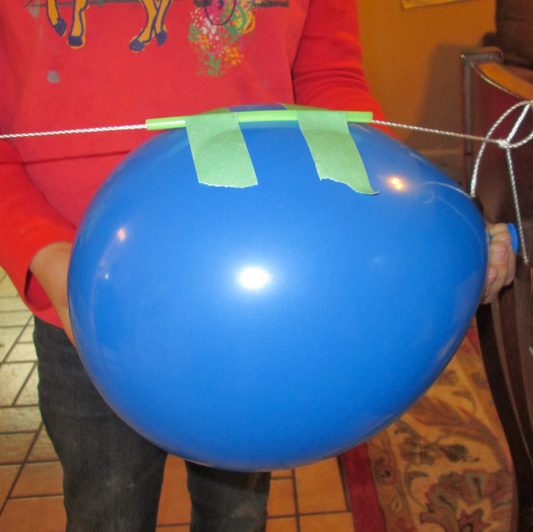 balloon rocket blue