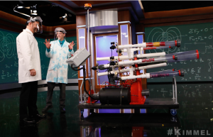 The Salad Cannon on Jimmy Kimmel Live with Science Bob